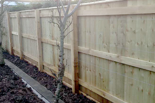 new boundary fencing